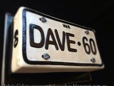 Licence (number) plate cake  Cake by Jakescakes
