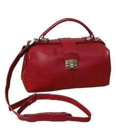 Loving this Amerileather Red Hillary Classic Leather Satchel on #zulily! #zulilyfinds