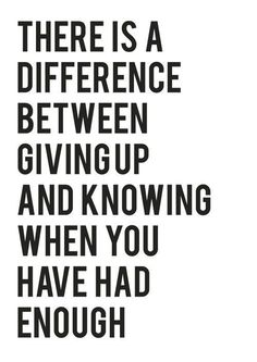 quote about knowing when to give up