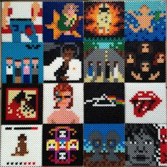 I am a high school art teacher. A few years ago a student create a pixelated self-portrait using Perler beads. Afterwards, I took the leftover beads and showed my son how to make characters from his favorite video games. He lost interest and I became obsessed. I started designing and peddling my own tiny 8-bit versions of pop culture characters here in Cincinnati, Ohio. At a local craft fair, a customer requested a melty bead version of Bruce Springsteen's Born in the USA. I loved the idea…