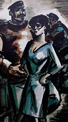 Frans Masereel Watercolor Paintings, Watercolors, Midsummer Nights Dream, Painters, Belgium, Illustration, Artworks, France, Pocket