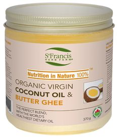 The Perfect Blend of Organic Virgin Coconut Oil & Organic Butter Ghee! http://www.myhealthyoutlet.com/superfoods/organic-coconut-oil-butter-ghee/