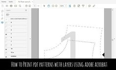 TUTORIAL: How to Print a PDF Pattern with layers using Adobe Acrobat
