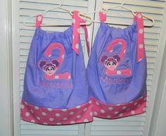 Twins abby cadabby sesame street applique pillowcase dresses
