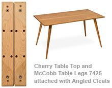 Table Cleats For Angled Legs   Diy | How Tou0027s | Pinterest | Cleats, Furniture  Legs And Mid Century Modern Furniture