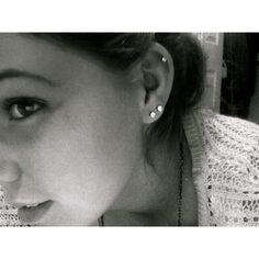 Ear Piercing Tumblr web speak media ❤ liked on Polyvore featuring jewelry, earrings, ear piercings, piercings, people and earring jewelry