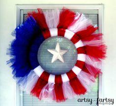 artsy-fartsy mama: 4th of July Wreath