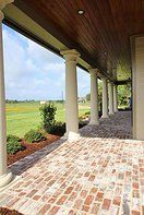 love the color for our tongue and groove on the porch Madden Home Design - French Country house plans, Acadian house plans