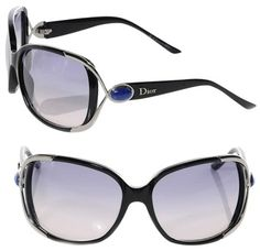 8a15b0b617734 Black Copacabana with Silver Trim and Real Lapis Stone Accents Sunglasses