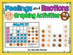 FEELINGS AND EMOTIONS GRAPHING MATH CENTER ACTIVITIES