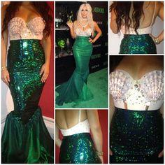 Little Mermaid Costume for Women | Kim K Mermaid Costume by ItsavGlamour on Etsy, $325.00