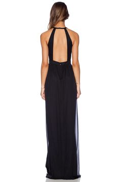 Jay Godfrey Dallenbach Backless Gown en Negro | REVOLVE