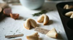 DIY Fortune Cookies // Feel like this recipe and idea may come in handy someday.