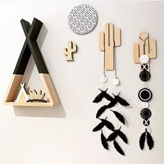 Our Ah Ah Online Black Teepee Shelf! Sitting pretty amongst these beautiful goodies from Tiny Totem and Pretty in Pine. Photo credit to Tiny Totem. @ahahonline