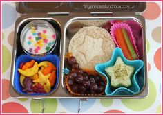 Lunch ideas - Use cupcake liners in Tupperware for kids lunches.
