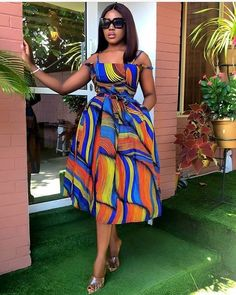 afrikanische kleider Ankara Splash Of Colors: Style Up Your Next Owambe With These Eye-Popping Ankara Fashion African Fashion Ankara, Latest African Fashion Dresses, African Print Fashion, Africa Fashion, Short African Dresses, African Print Dresses, Short Dresses, African Prints, African Print Dress Designs