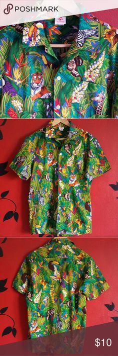 Selling this Scorpio Vintage Tropical Jungle Print on Poshmark! My username is: nkrumah7. #shopmycloset #poshmark #fashion #shopping #style #forsale #Vintage #Other