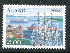 Aland Island Bark Pommern and Car Ferries 1984