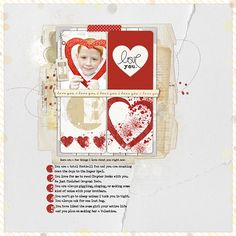 love this #valentines #scrapbook page from Amy Mallory at DesignerDigitals.com