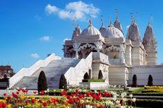 B.A.P.S Swaminarayan Hindu Mandir - London, UK. #Architecture #Hinduism #Marble #Ancient #Design