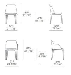 Cadeira estofada de pele GRACE by Poliform | design Emmanuel Gallina