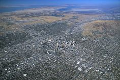 Aerial photograph of View looks northwest to Great Salt Lake. Salt Lake airport at upper left. Salt Lake City Airport, City Skylines, City Scapes, Usa Cities, Aerial View, North West, Utah, City Photo, Photograph