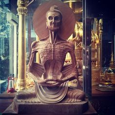 """""""I've never seen a Buddha statue like this before. It represents the period when he starved for several weeks."""""""