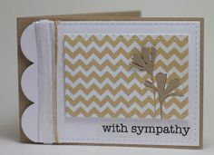 Homemade Cards by Erin: with sympathy