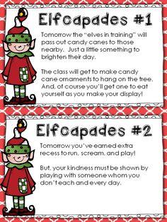 *Teaching Maddeness*: Elfcapades {Elf in the Classroom + Random Acts of Kindness} FREEBIE