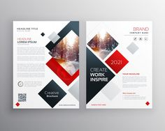 modern business bifold brochure design template or magazine page design - Buy this stock vector and explore similar vectors at Adobe Stock Web Design, Book Design, Layout Design, Free Flyer Design, Creative Flyer Design, Creative Flyers, Creative Posters, Creative Brochure, Creative Business