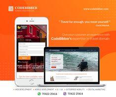 Give your customer an experience with codebibber.com expertise in Travel Domain #WebDevelopment #MobileDevelopment  #EnterpriseMobility #DigitalMarketing  #UI #UX #Design #Development
