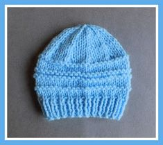 Easy knit hat patterns are perfect for baby. Keep your little angel's head warm with these free knitting patterns. Knitted baby hats are a quick project and they're extra cute, so make one today! Baby Hat Knitting Patterns Free, Baby Hat Patterns, Baby Hats Knitting, Crochet Baby Hats, Knit Or Crochet, Free Knitting, Knitted Hats, Crochet Patterns, Free Pattern