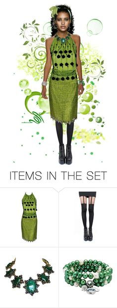 """Green"" by caticorn16 ❤ liked on Polyvore featuring art, girly and girl"