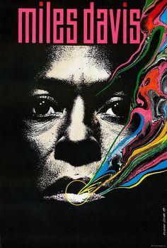wandrlust:  Polish Miles Davis Poster (1989) Designed byRoslaw Szaybo