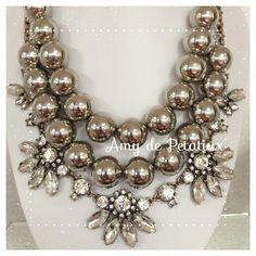 Jiya necklace + The bridal statement necklace stackable México Amy de Petatiux