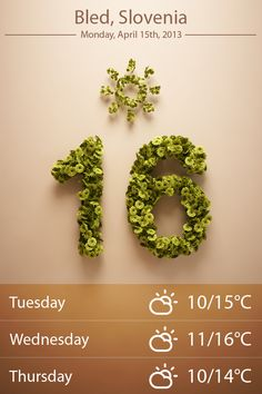 Just another weather app on Behance
