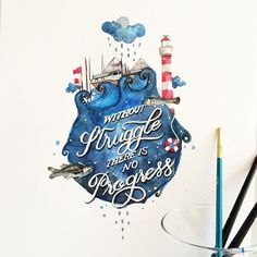 Beautiful Watercolor Paintings Paired With Uplifting Hand-Lettered Quotes - DesignTAXI.com
