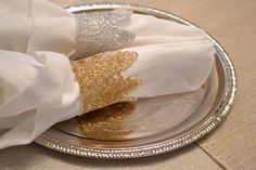 diy glitter lace napkin rings, crafts, glitter lace napkin rings