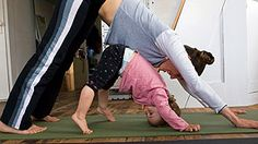 Some easy yoga poses to practice with your child.