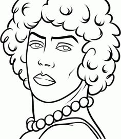 How to Draw Rocky Horror Picture Show, Dr Frank N Furter, Step by ...