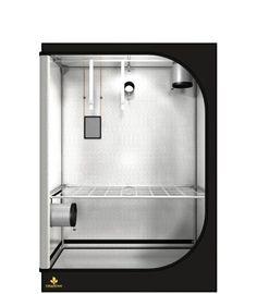 Solide Box, gute Ausstattung. Grundfläche: 120cm x 60cm Töpfe (Empfehlung): max. 10 Töpfe von je 11 Liter Licht (Empfehlung): 400W NDL oder 600W NDL oder 2x hydroca 280W oder 1x hydroca 416W LED Abluft (Empfehlung): 125er Flansch Led, Bathtub, Dark, Street, Closets, Tub, Standing Bath, Bathtubs, Bath Tube