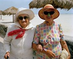 wonderful photos of Miami Beach retirees, by Gay Block, 1982-85 (via Retronaut).... happy, colorful characters all!
