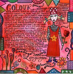 Dreamweaver - Scrapbooking, Altered Journals, Art, Thoughts, Life: 2010 Art Journal - Colour