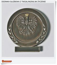 Polska odznaka z orłem  Wymiary 66 x 74 mm