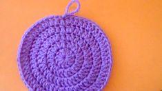 Uncinetto chiusura invisibile maglia alta e mezza maglia alta in tondo - YouTube