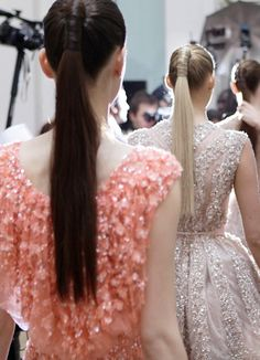Backstage at Elie Saab Haute Couture - This Is Glamorous Elie Saab Haute Couture, Elie Saab Spring, Ellie Saab, Sleek Ponytail, Glamour, Hair Trends, Backstage, Fashion Show, High Fashion