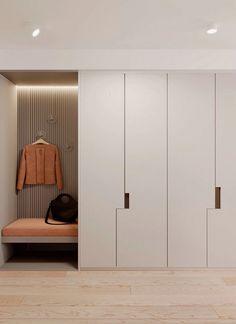 Interior Home Design Trends For 2020 - New ideas Hall Wardrobe, Wardrobe Door Designs, Wardrobe Design Bedroom, Bedroom Cupboard Designs, Closet Designs, Home Room Design, Home Interior Design, Living Room Designs, Interior Architecture