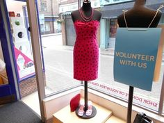 My visual merchandising and styling at Cancer Research charity shop in Winchester - 2015