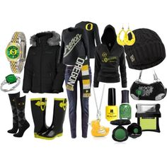 """""""I LOVE my DUCKS game day!"""" by shainafelger on Polyvore"""