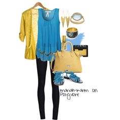 Blue and Gold, created by mariah-karm on Polyvore